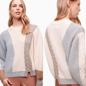 ARITZIA Wilfred Lonell Color Block Wool Sweater